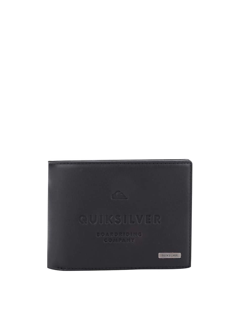 Černá pánská koženková peněženka s nápisem Quiksilver