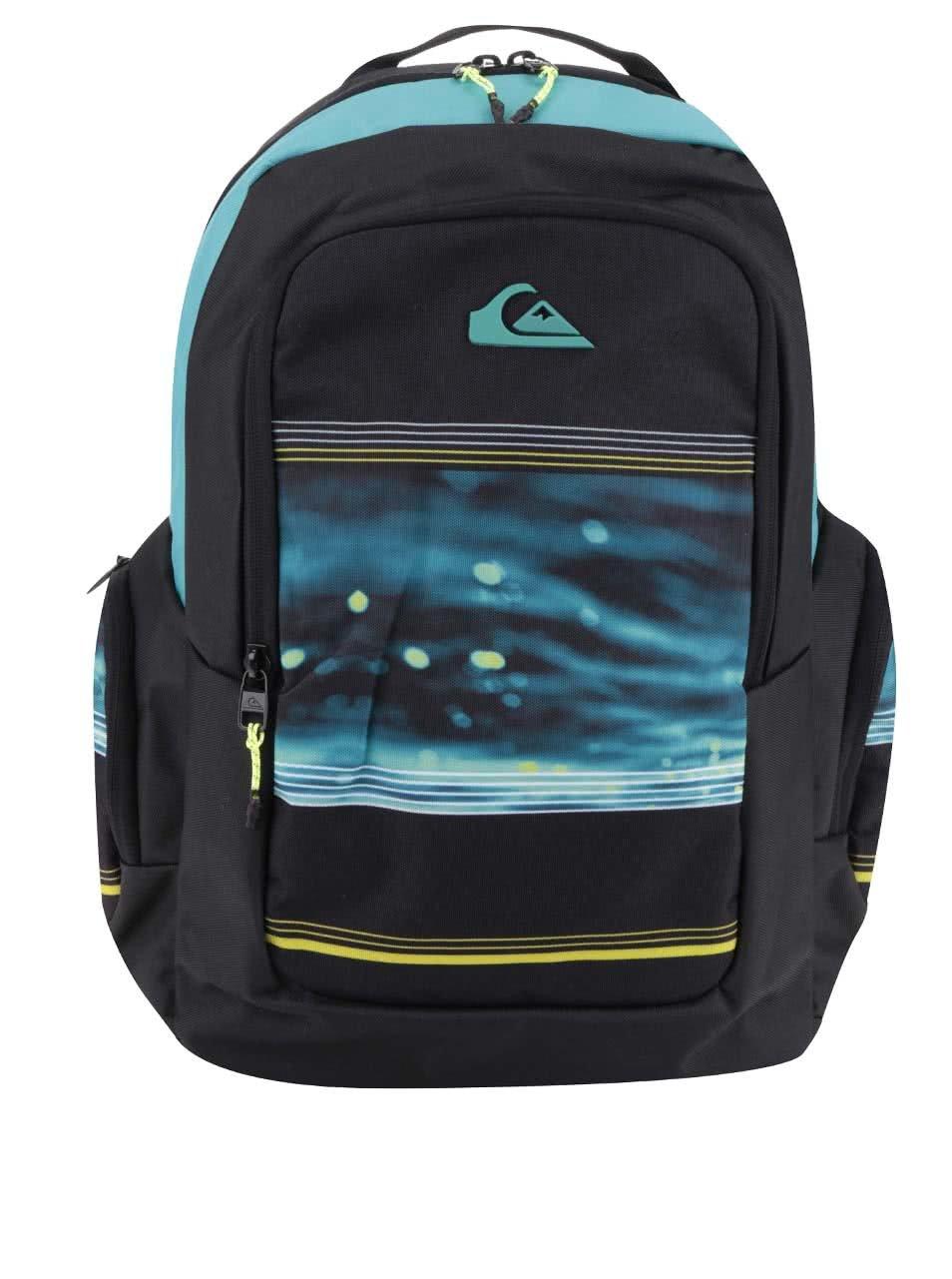 Zeleno-černý pánský batoh se vzorem 25 l Quiksilver
