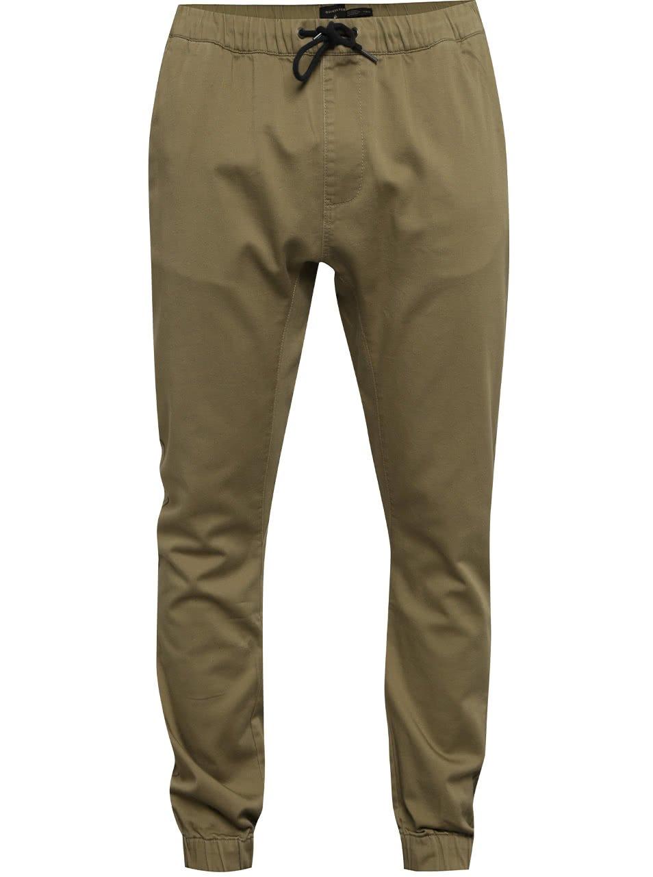 Béžové pánské kalhoty s gumou v pase Quiksilver