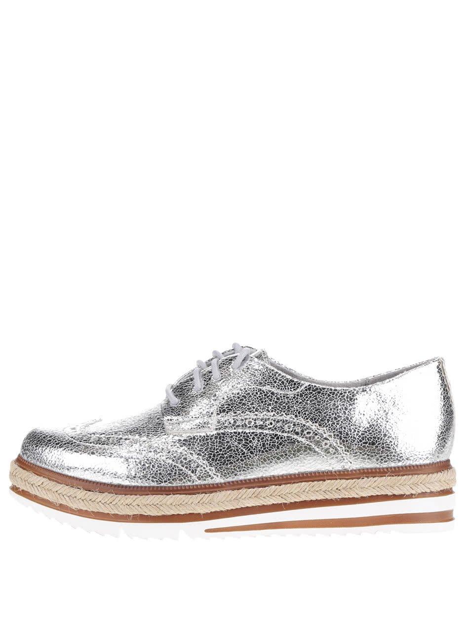 Polobotky ve stříbrné barvě Tamaris