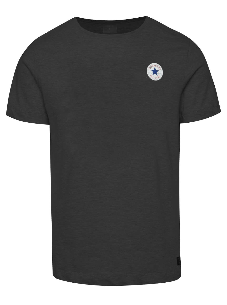 Tmavě šedé pánské triko s logem Converse Core