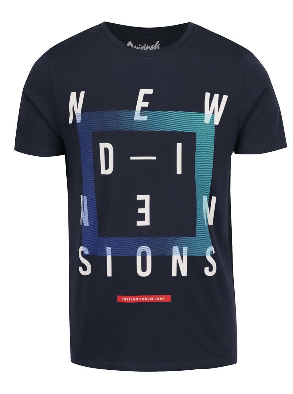 Tmavě modré triko s potiskem Jack & Jones