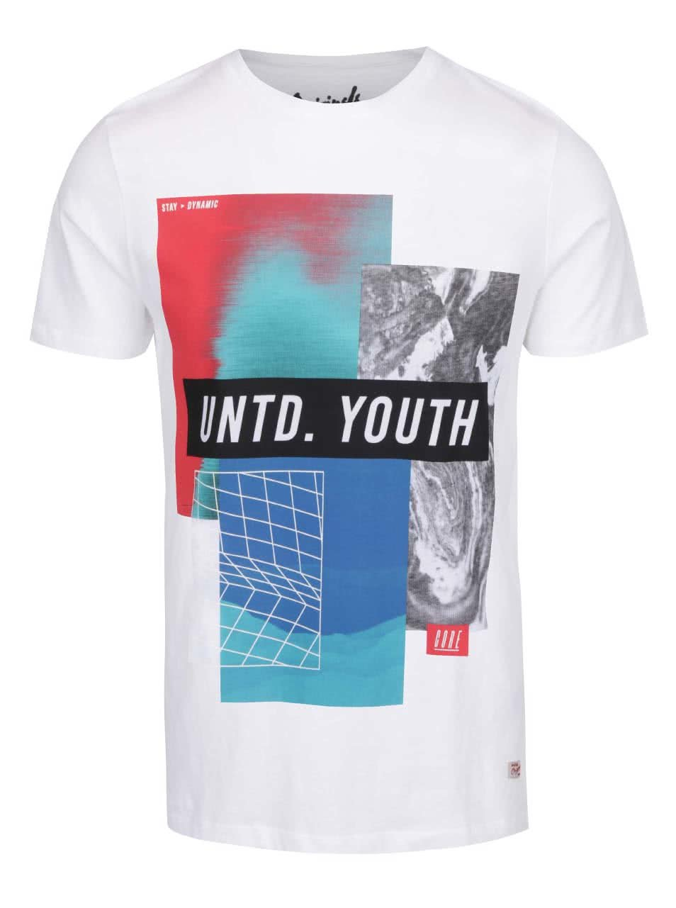 Bílé triko s barevným potiskem Jack & Jones