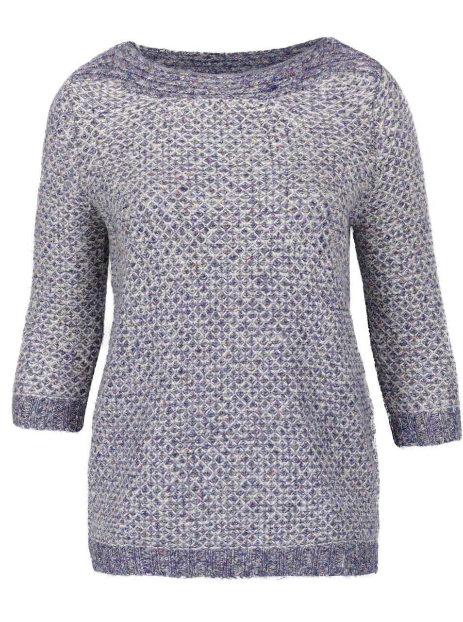 Krémovo-modrý dámský svetr M&Co
