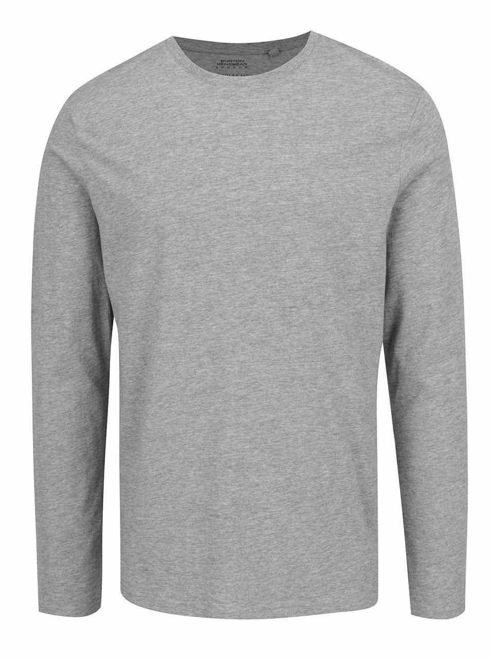 Šedé pánské basic triko Burton Menswear London