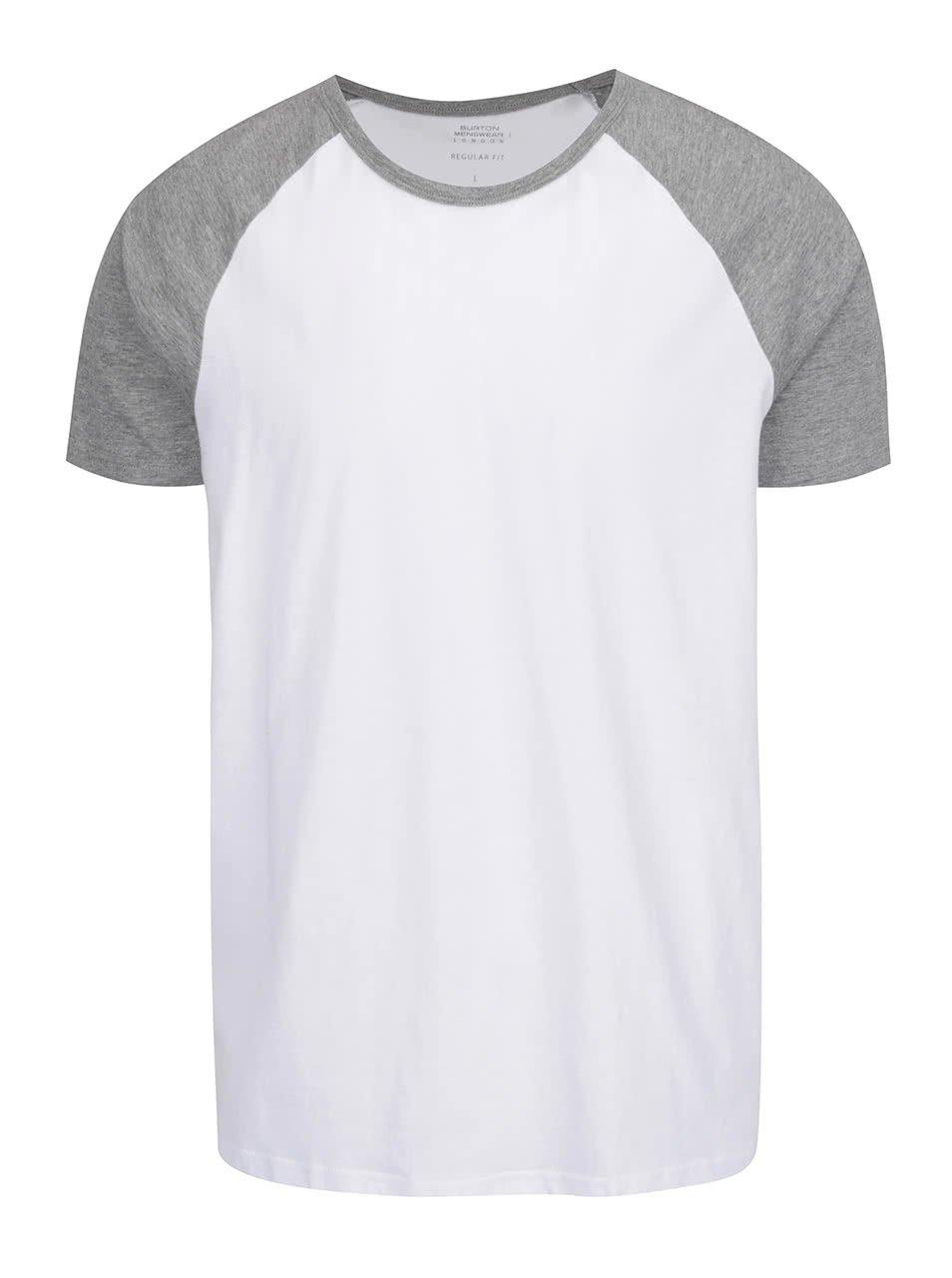 Šedo-bílé pánské triko Burton Menswear London