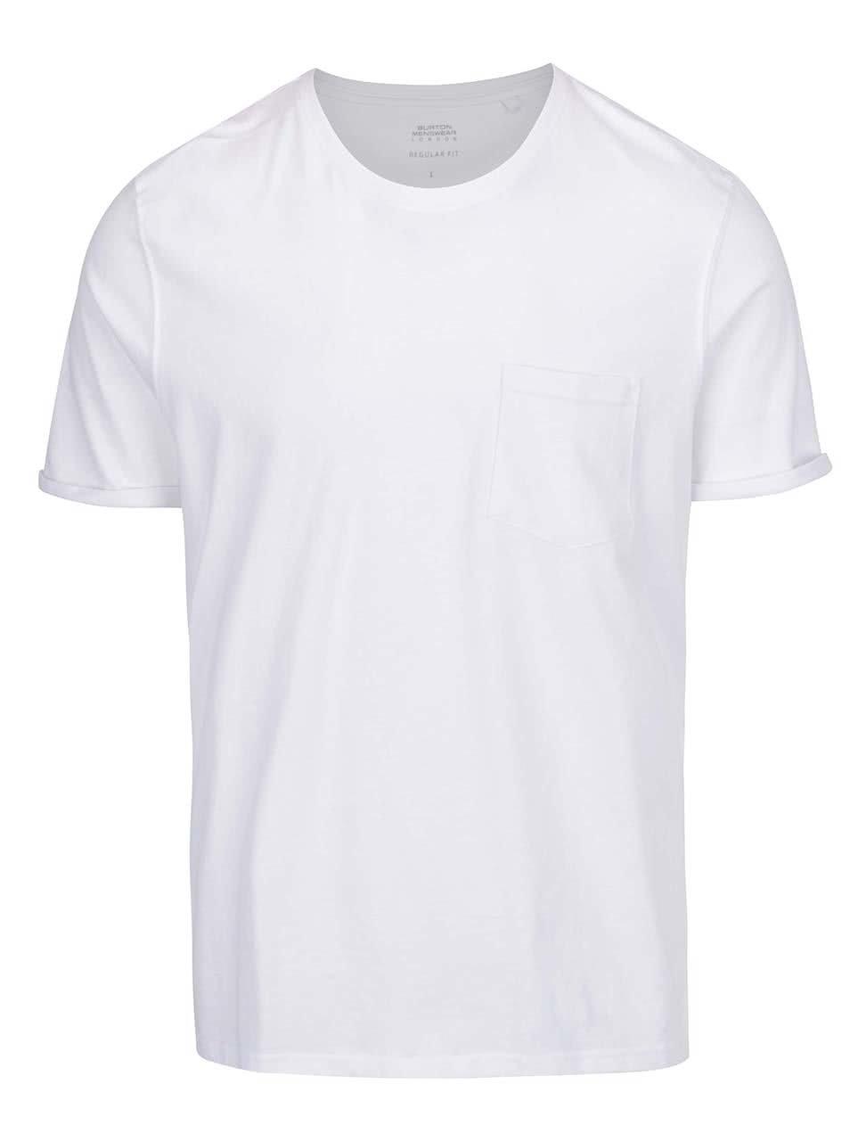 Bílé pánské basic triko Burton Menswear London