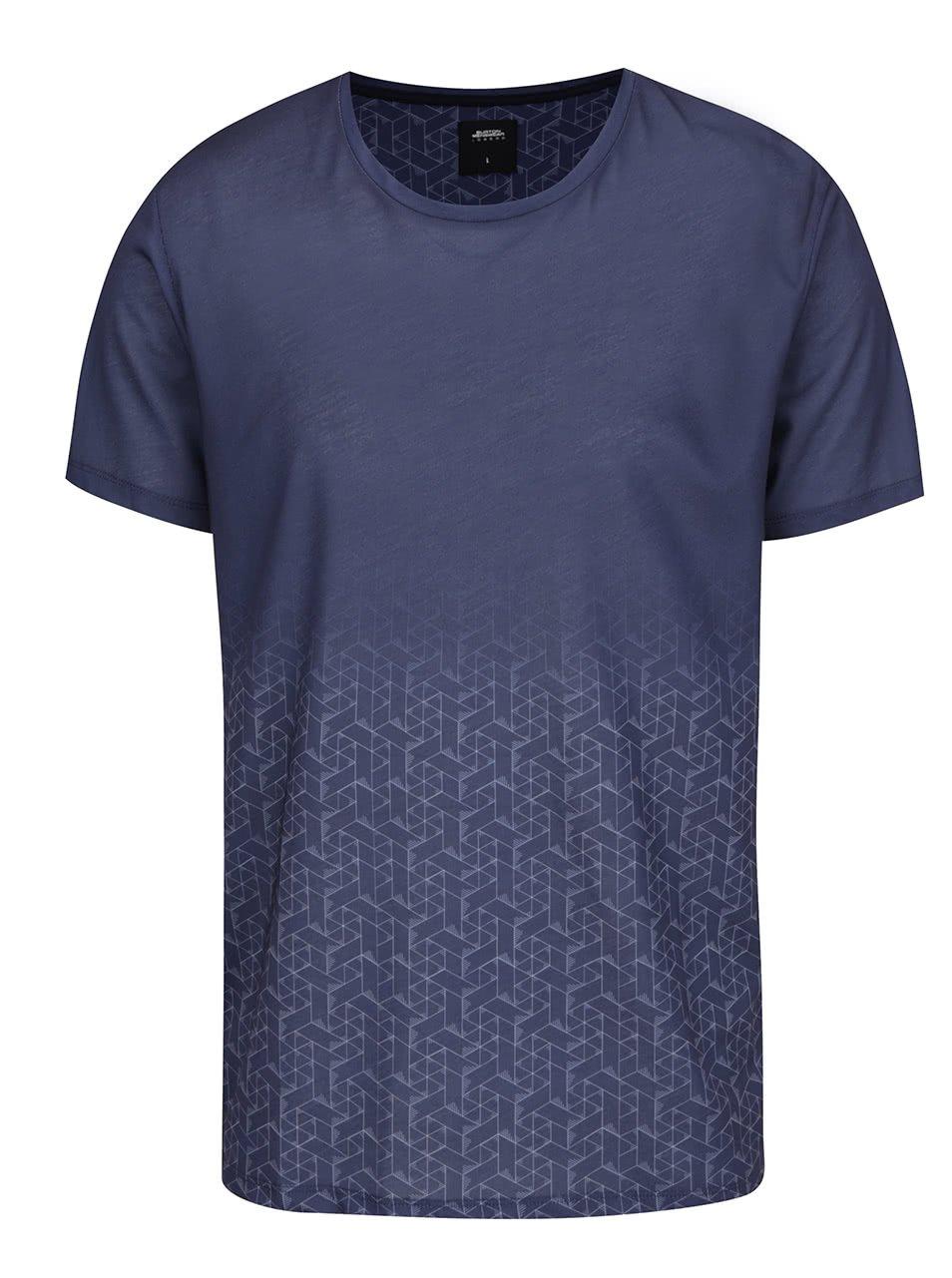 Tmavě modré pánské triko s potiskem Burton Menswear London