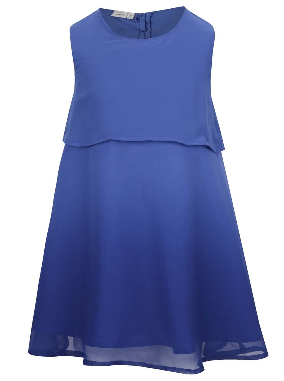 Tmavě modré holčičí šaty bez rukávů name it Isabella