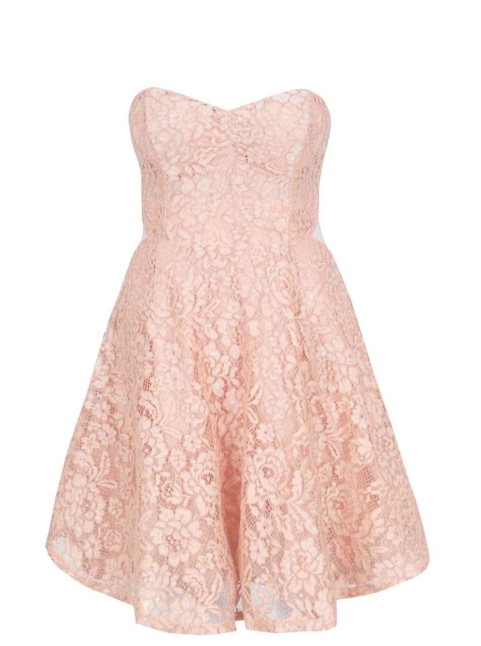 7f959dff5b5 Růžové krajkové šaty TALLY WEiJL ŽENY   Šaty   společenské šaty