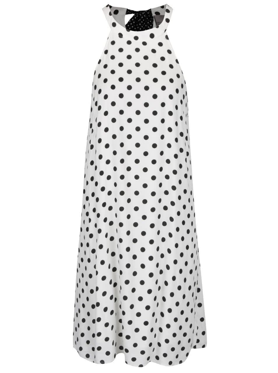 Krémové puntíkované šaty s mašlí za krkem VERO MODA Sally