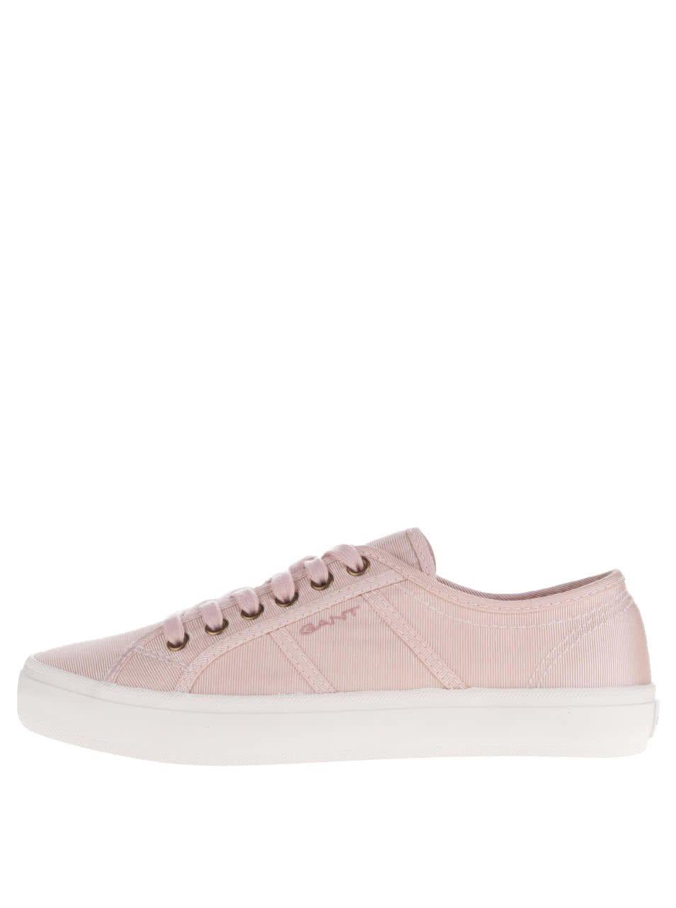 Růžové dámské plátěné tenisky GANT Zoe
