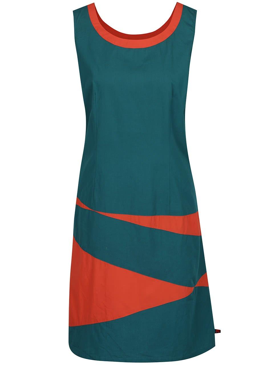 Zelené vzorované šaty Tranquillo Bente