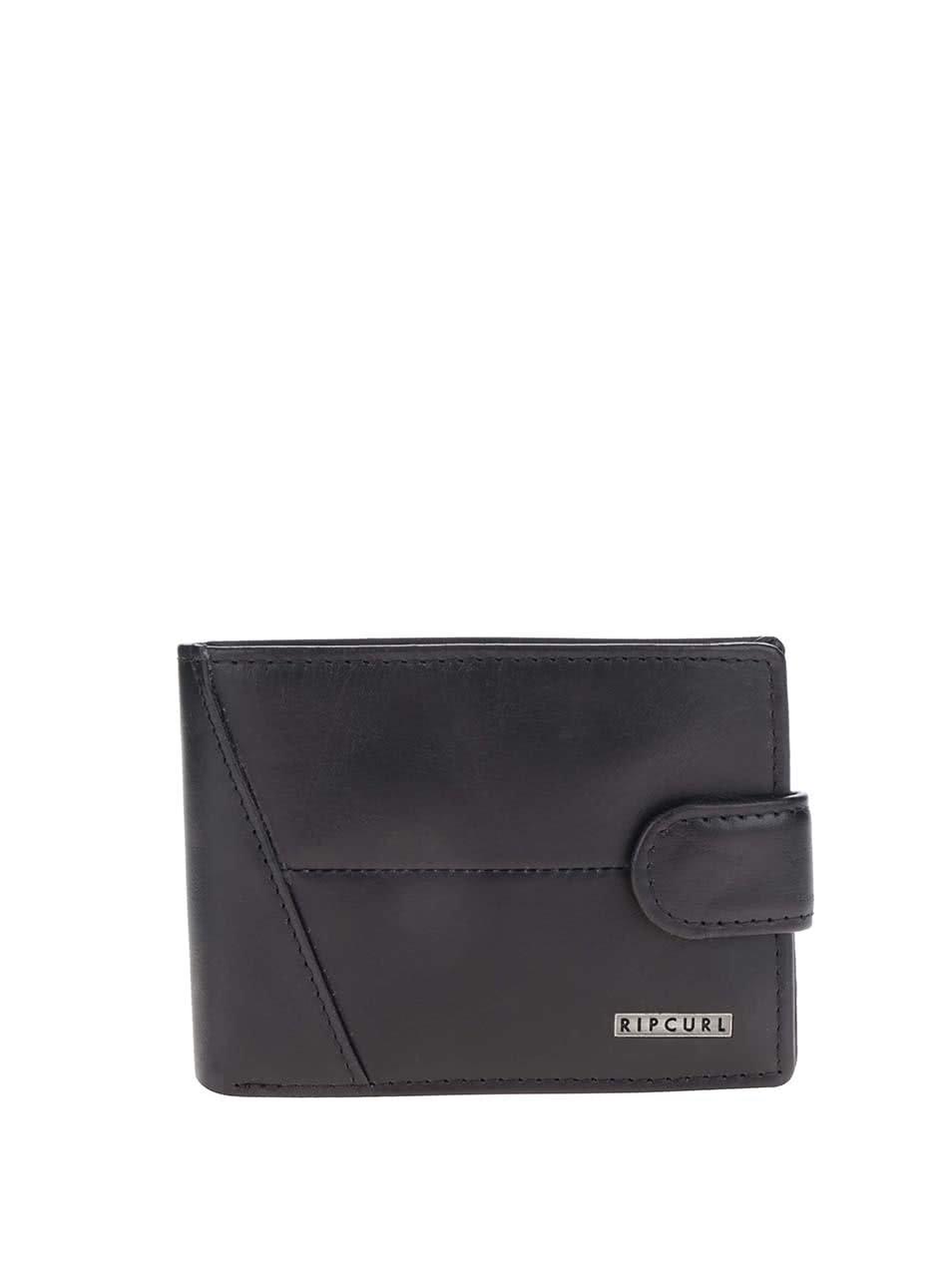 Černá pánská kožená peněženka s logem Rip Curl Clean All Day