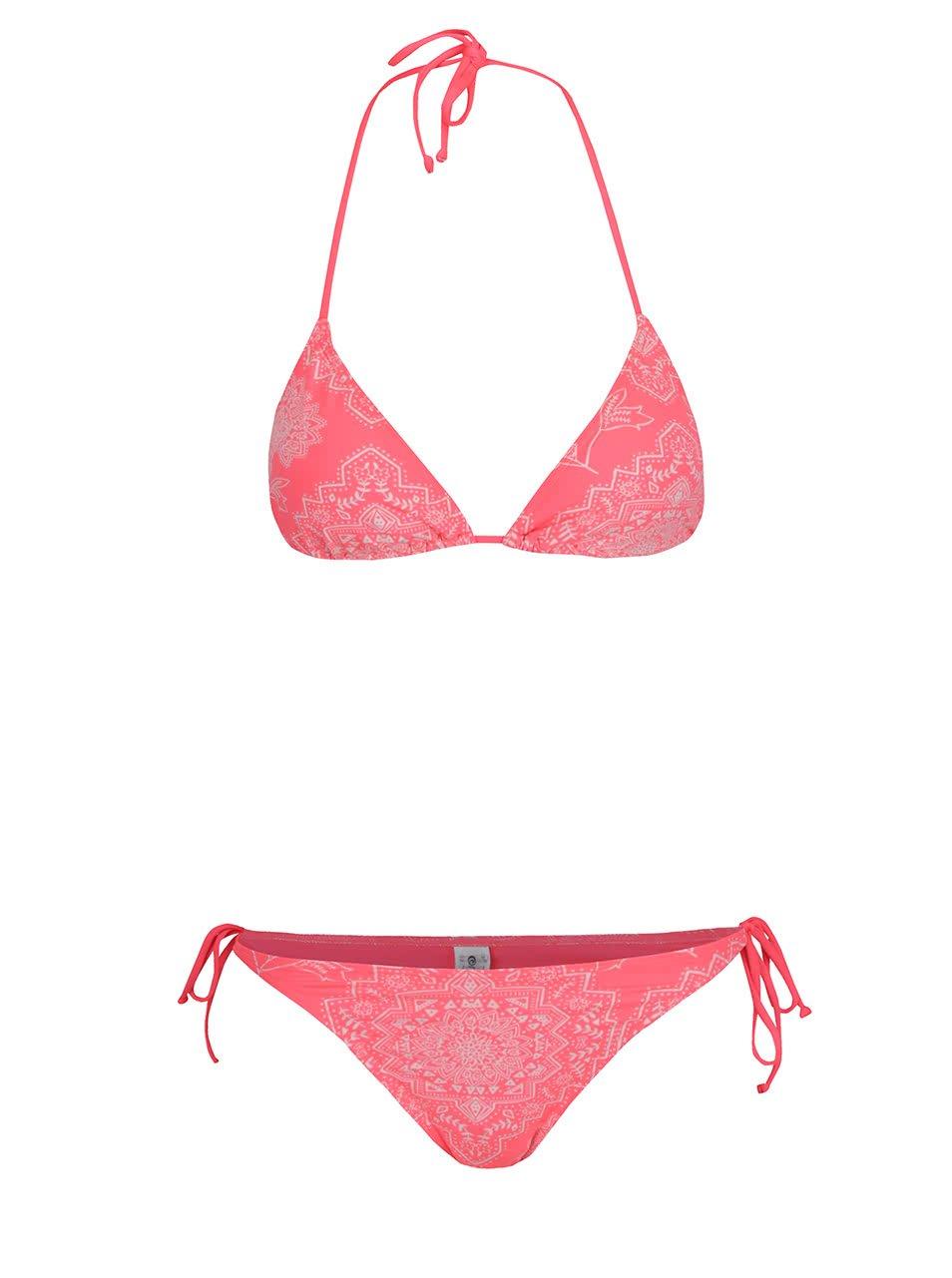 Růžové dámské dvojdílné plavky Rip Curl Linda