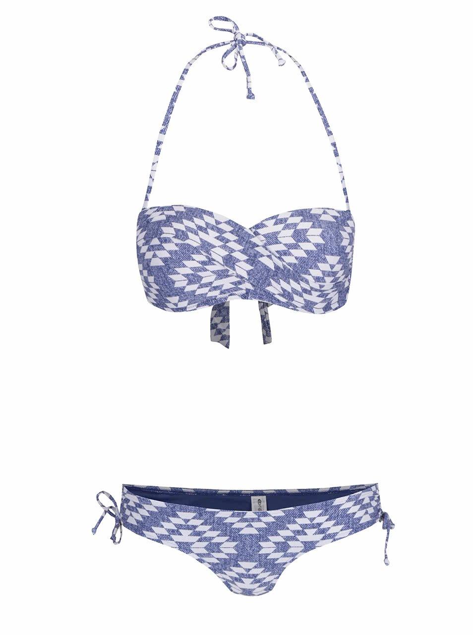 Bílo-modré dámské dvoudílné plavky Rip Curl Del Sol
