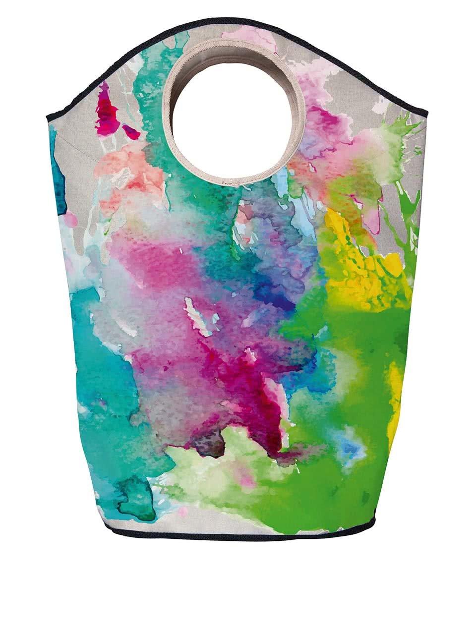 Krémový koš na prádlo s motivem rozpitých barev Butter Kings