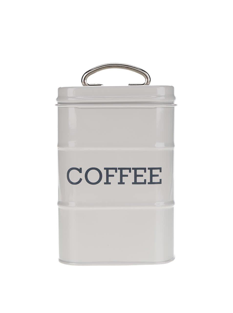 Světle šedá plechová retro dóza na kávu Kitchen Craft