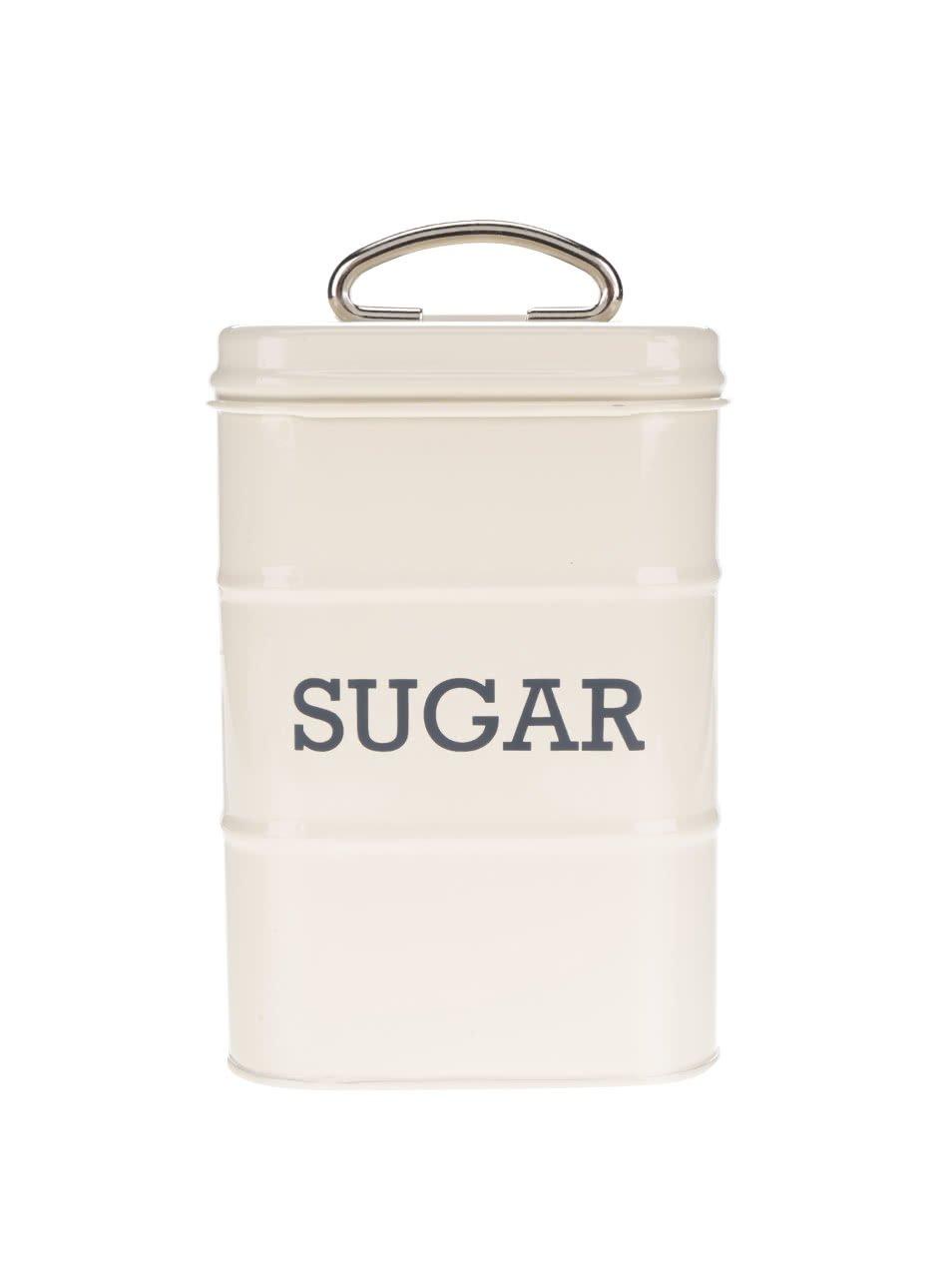 Krémová plechová retro dóza na cukr Kitchen Craft
