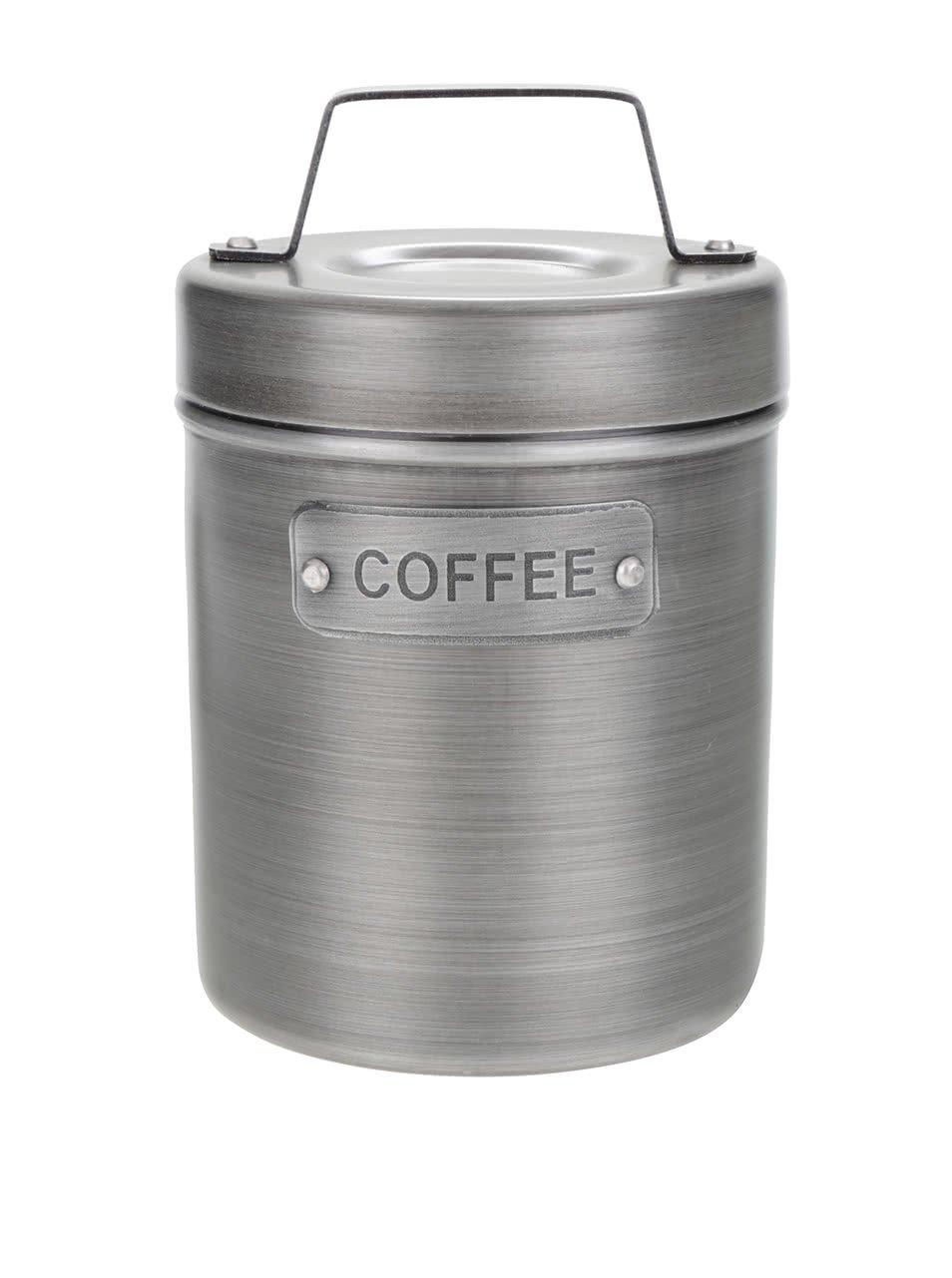Šedá kovová retro dóza na kávu Kitchen Craft