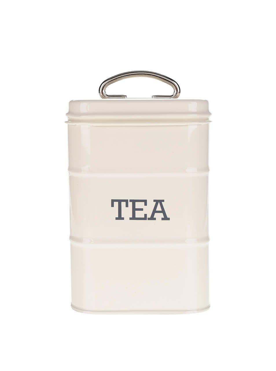 Krémová plechová retro dóza na čaj Kitchen Craft
