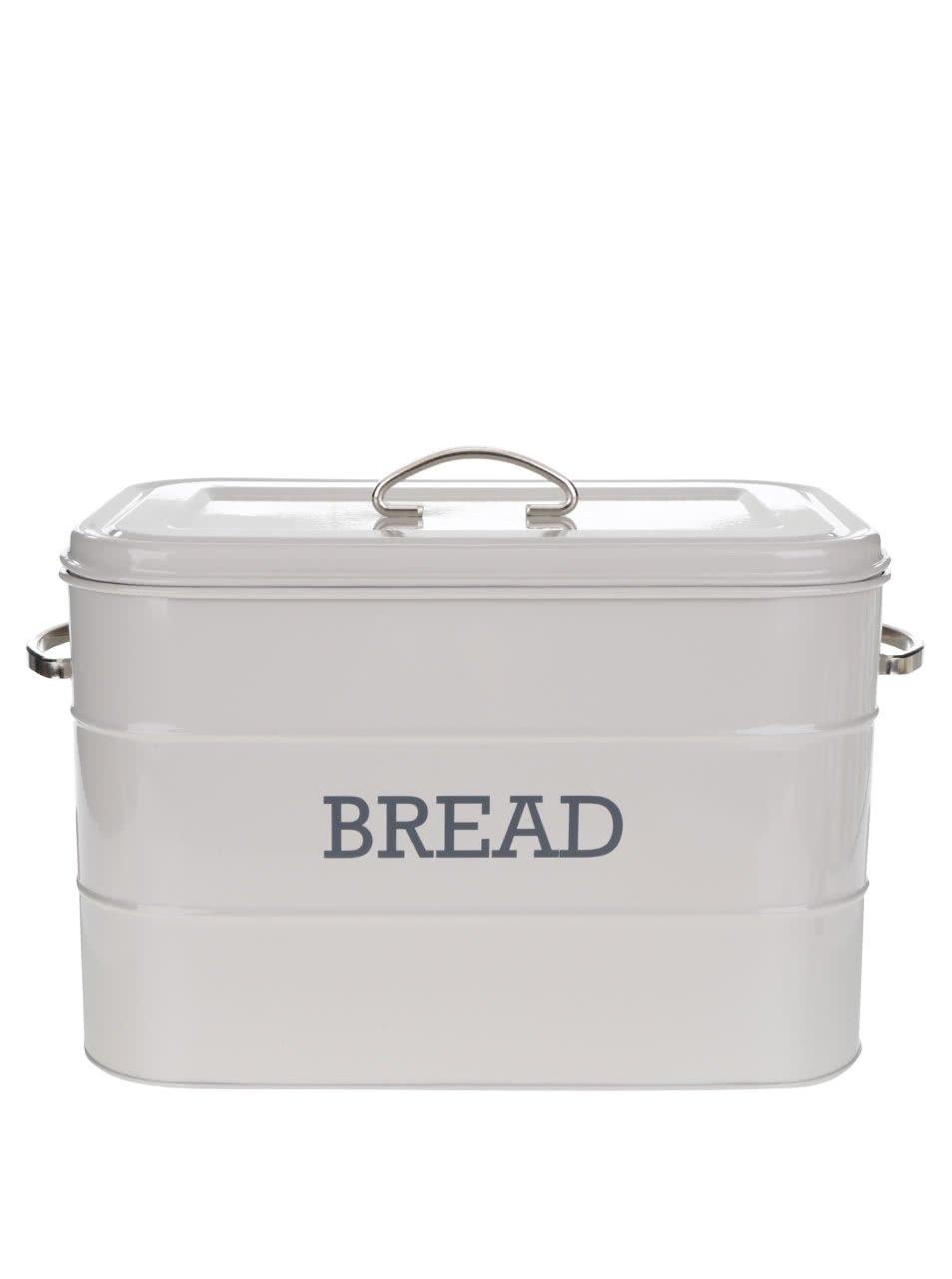 Světle šedá plechová dóza na chléb Kitchen Craft