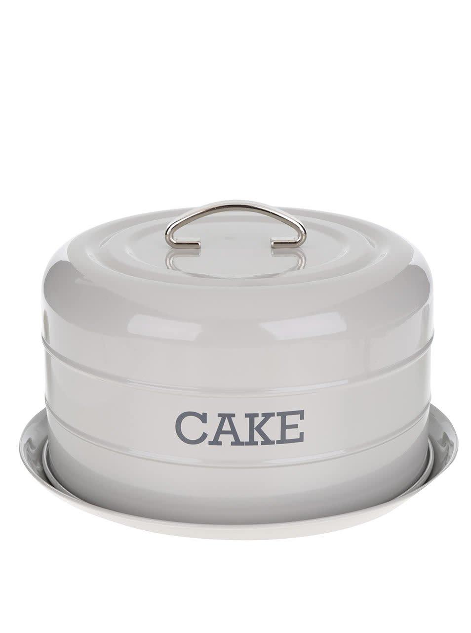 Světle šedá plechová dóza na dort Kitchen Craft