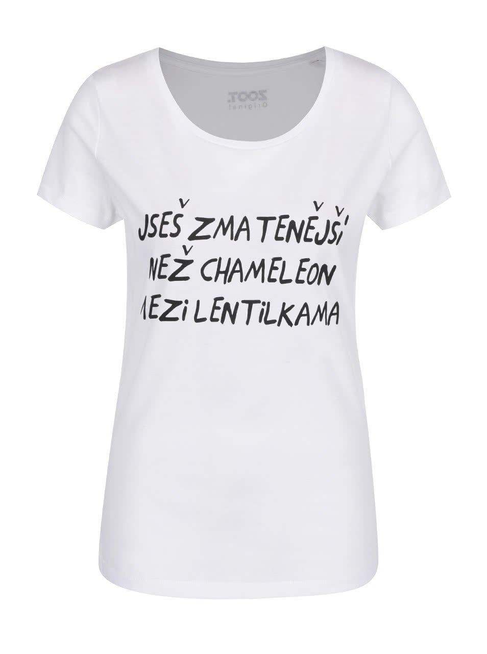 Bílé dámské triko ZOOT Originál Chameleon