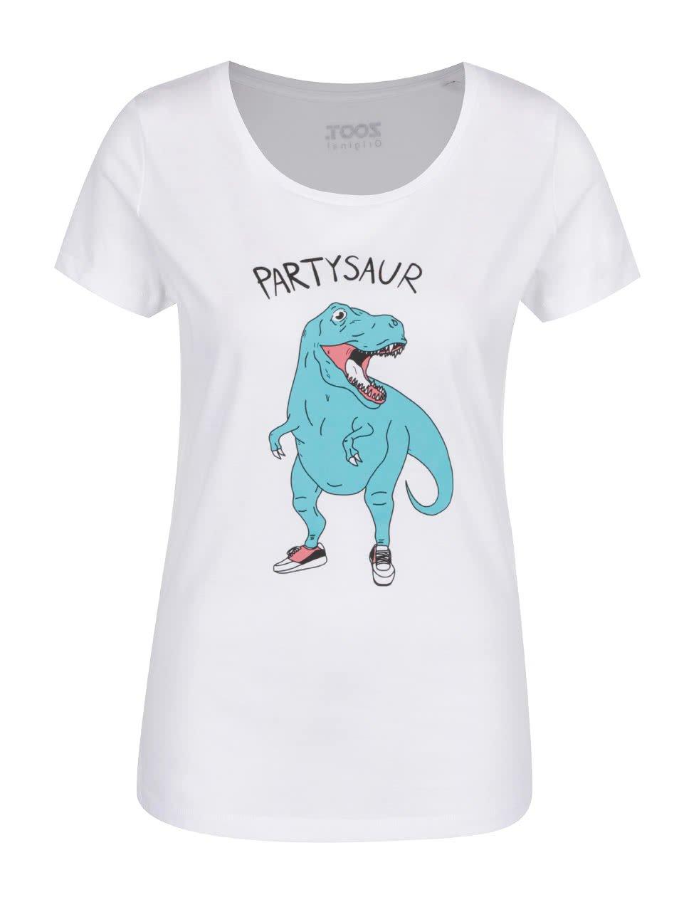 Bílé dámské triko ZOOT Originál Partysaur
