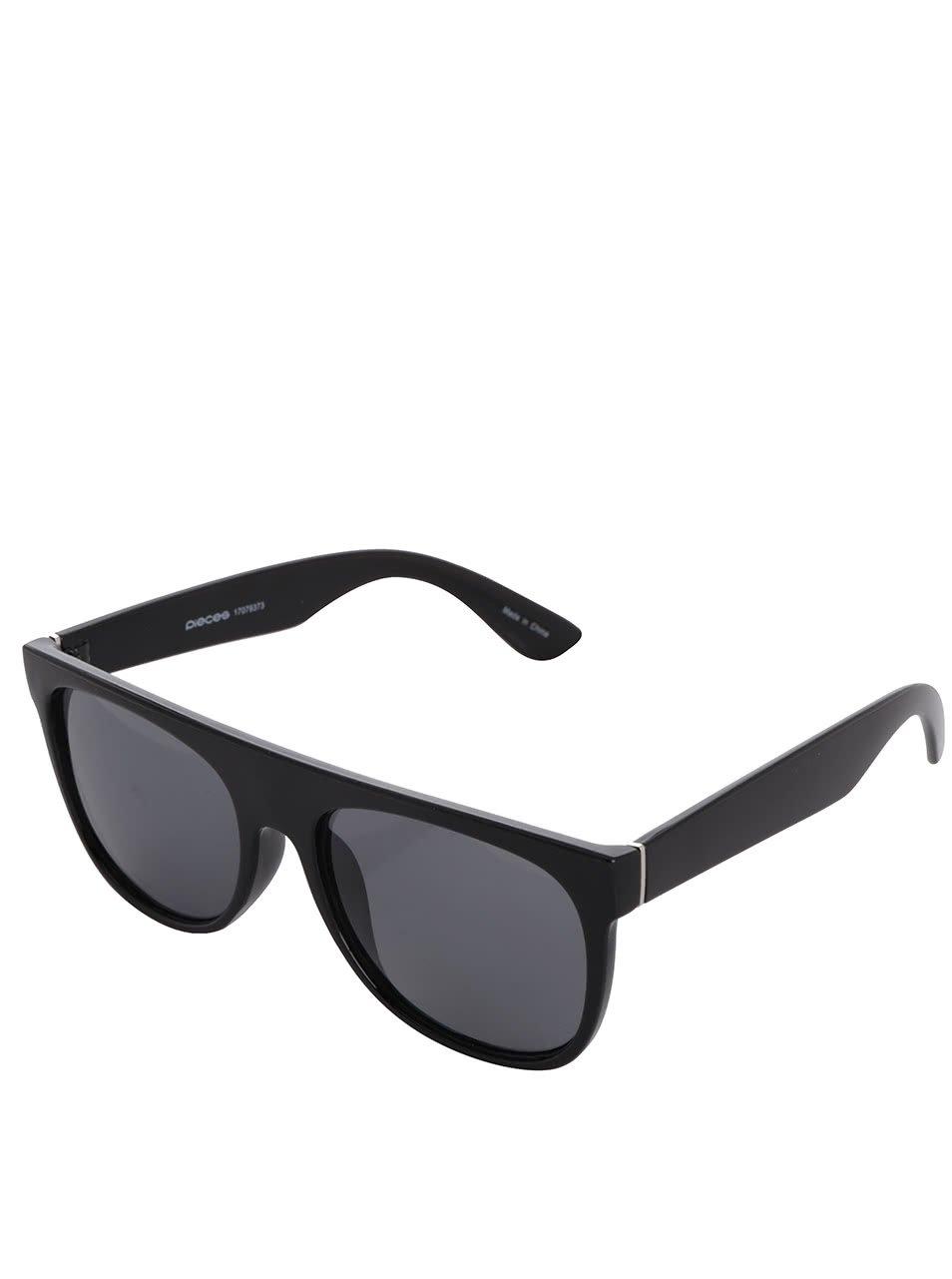 Černé sluneční brýle Pieces Lenni