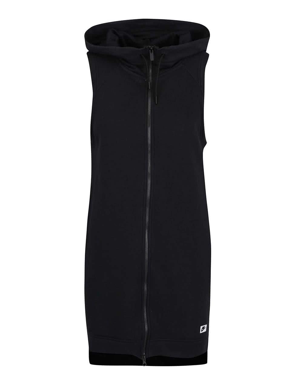 Černá dámská dlouhá vesta na zip Nike Sportswear Modern Vest