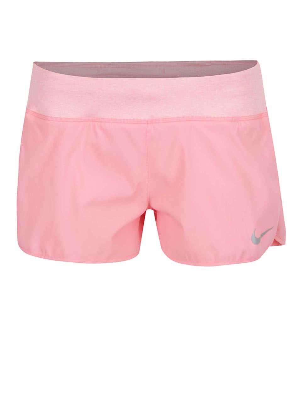 Růžové dámské funkční kraťasy Nike Flex