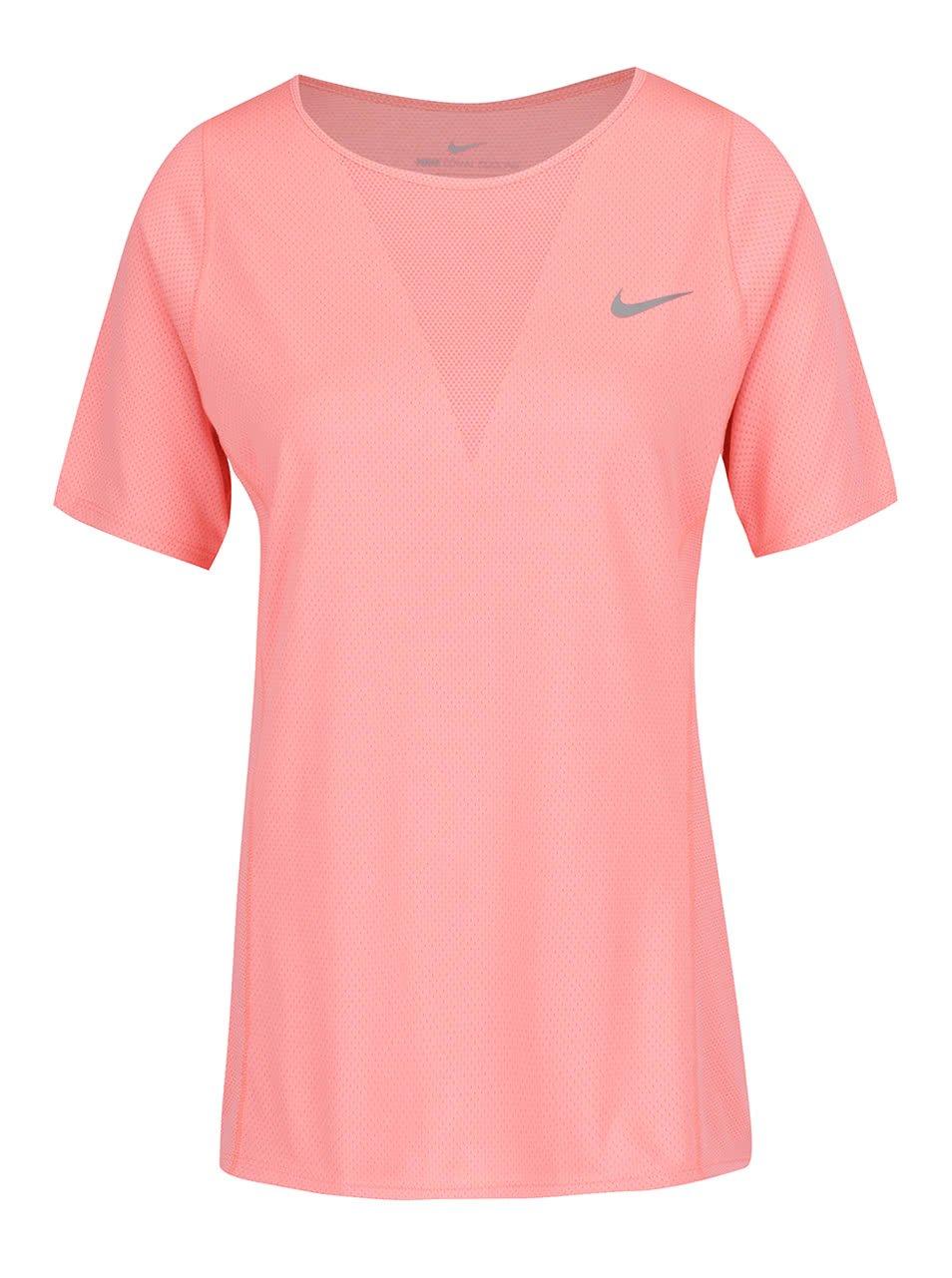 Růžové dámské funkční tričko Nike Zonal Cooling Relay