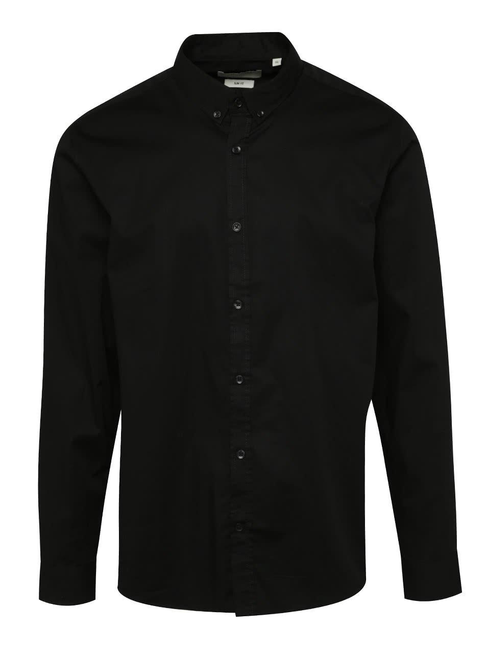 Černá slim fit košile ONLY & SONS Albiol