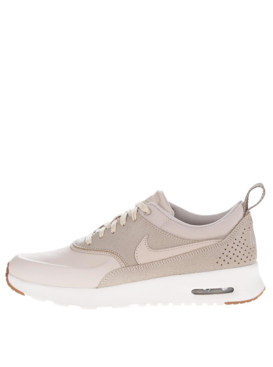 Béžové dámské kožené tenisky Nike Air Max Thea Premium
