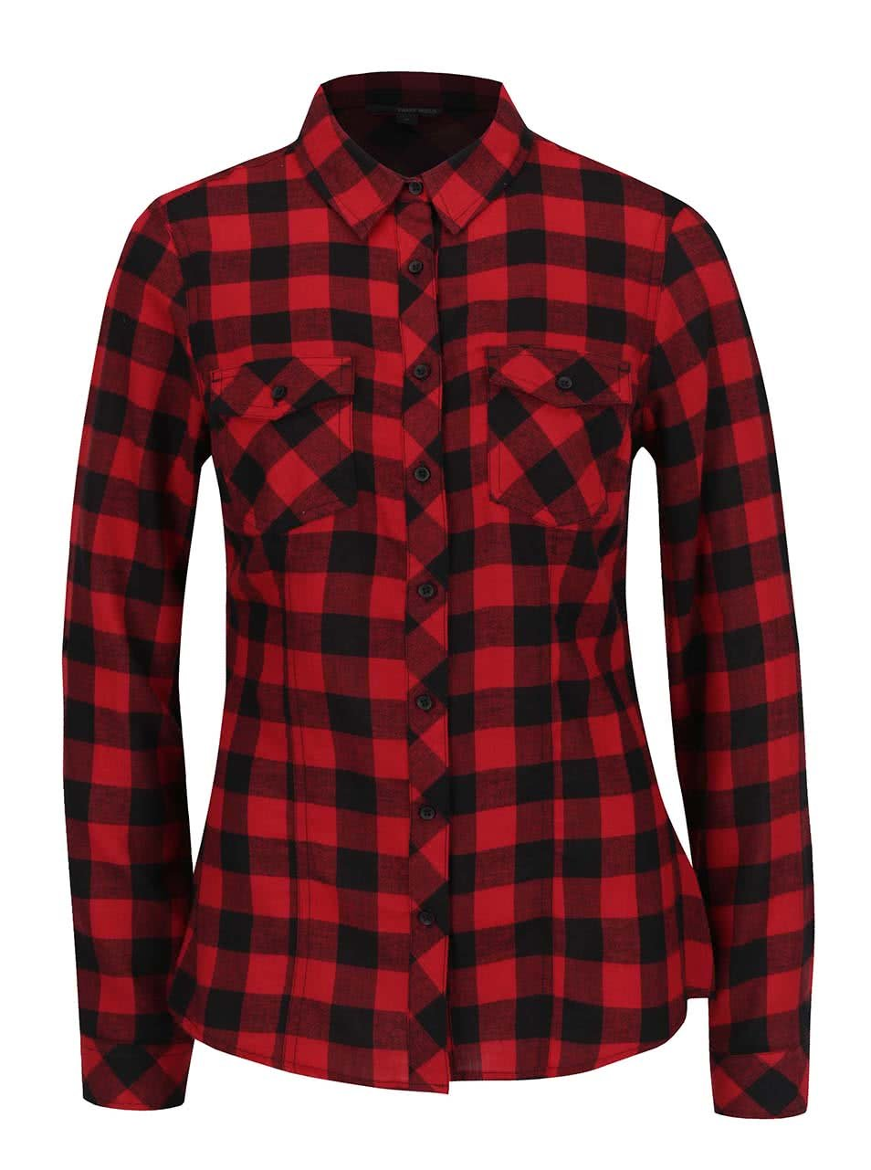 Červená károvaná košile TALLY WEiJL