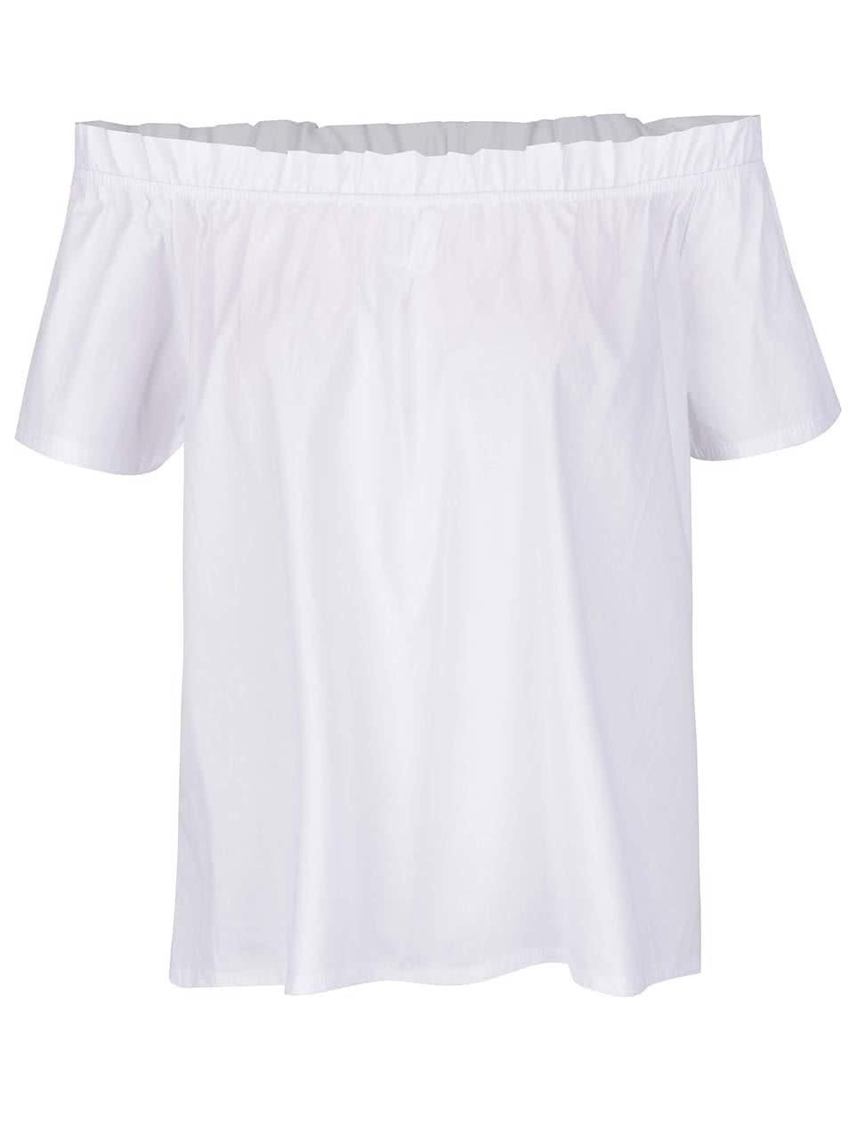 Bílá halenka s odhalenými rameny Haily's Cora