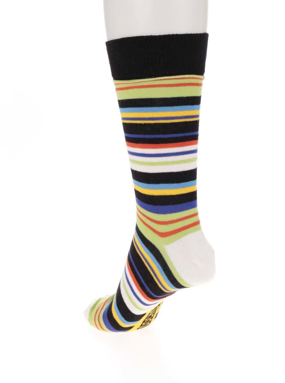 Sada tří pánských vzorovaných ponožek v modré a černé ...