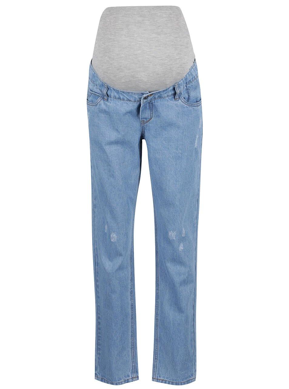 Světle modré těhotenské džíny Mama.licious West