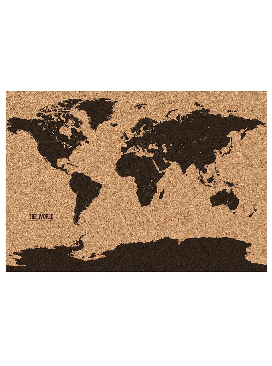 Korková mapa světa Gift Republic