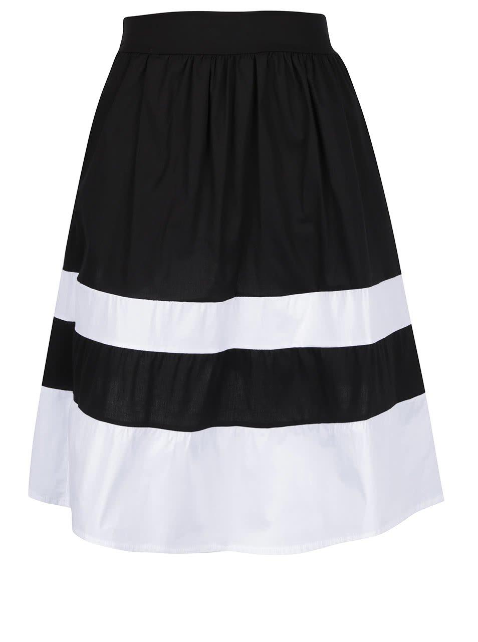 Bílo-černá sukně s kapsami ZOOT
