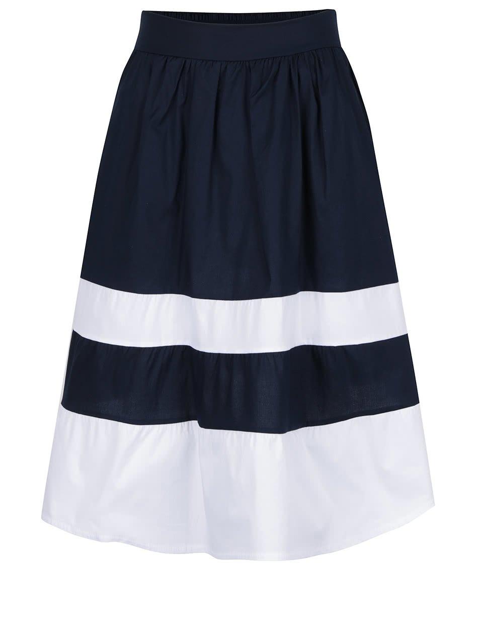 Bílo-modrá sukně s kapsami ZOOT