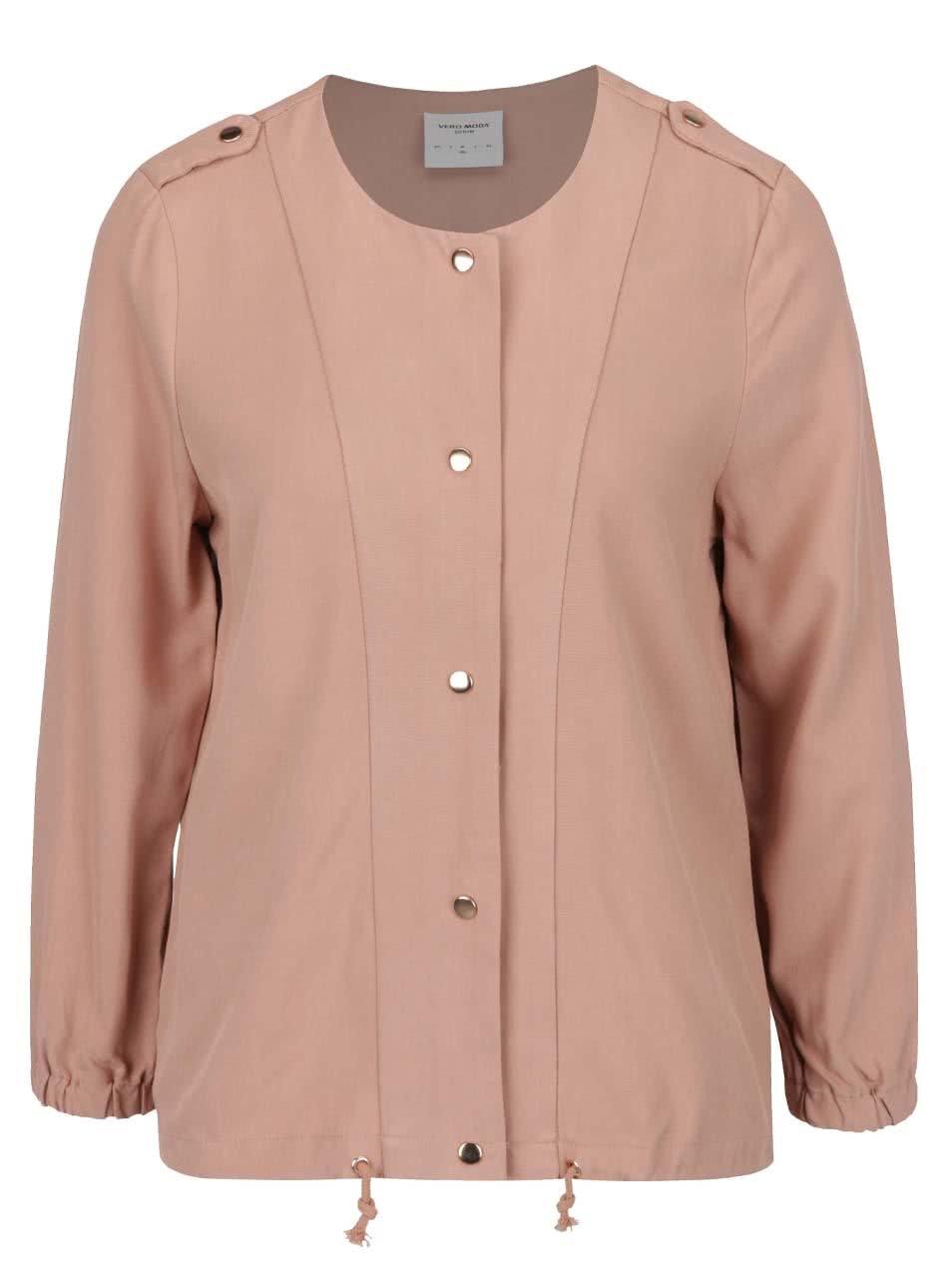 Světle růžová lehká bunda VERO MODA Tailor