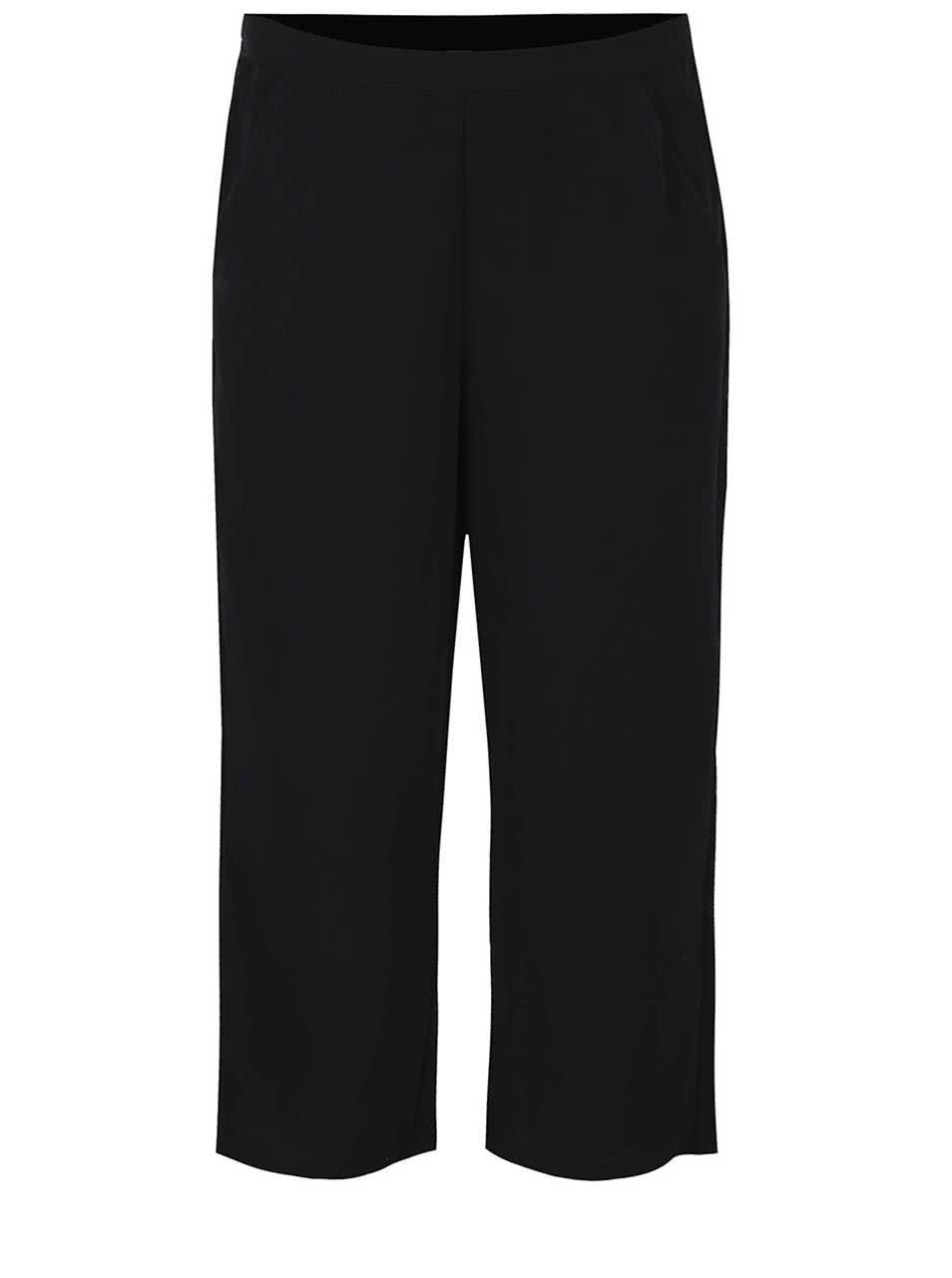 Černé culottes kalhoty VERO MODA Maggie