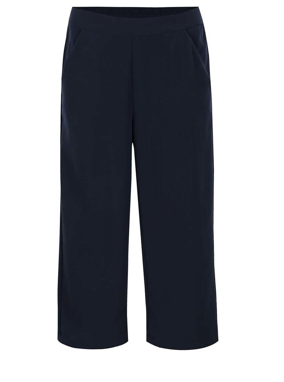 Tmavě modré culottes kalhoty VERO MODA Maggie