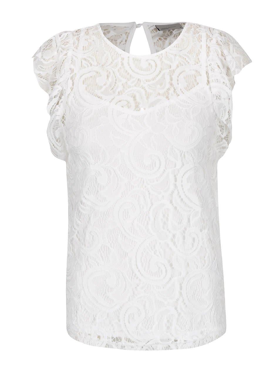 Bílá krajková halenka Vero Moda Thea