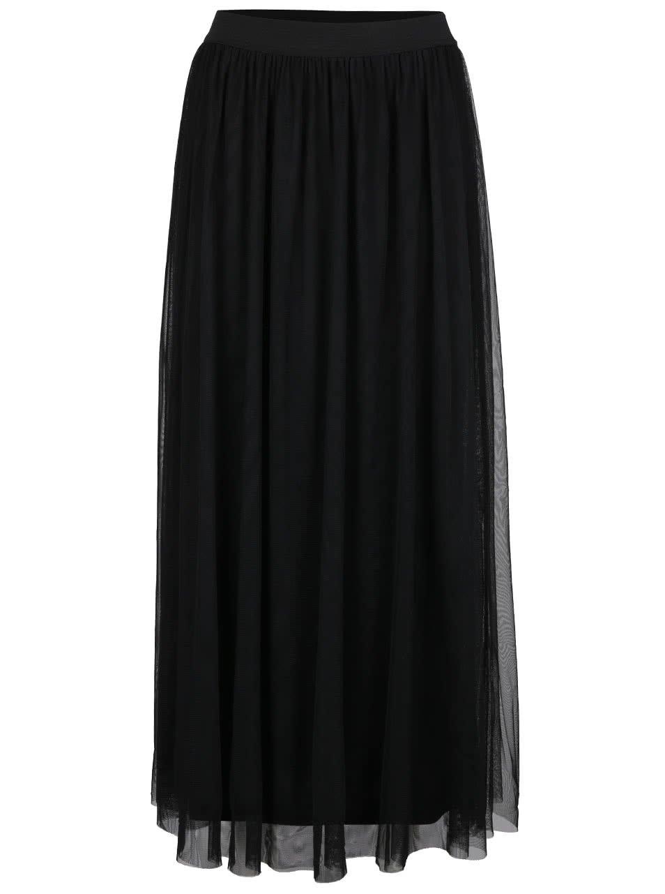 Černá tylová maxi sukně VILA Rokas