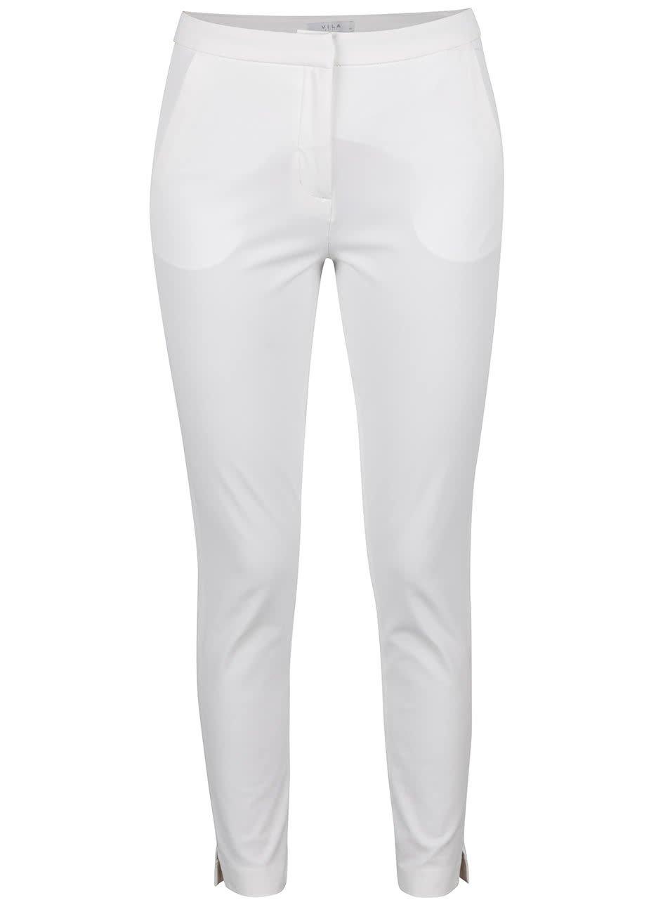 Krémové kalhoty VILA Erika