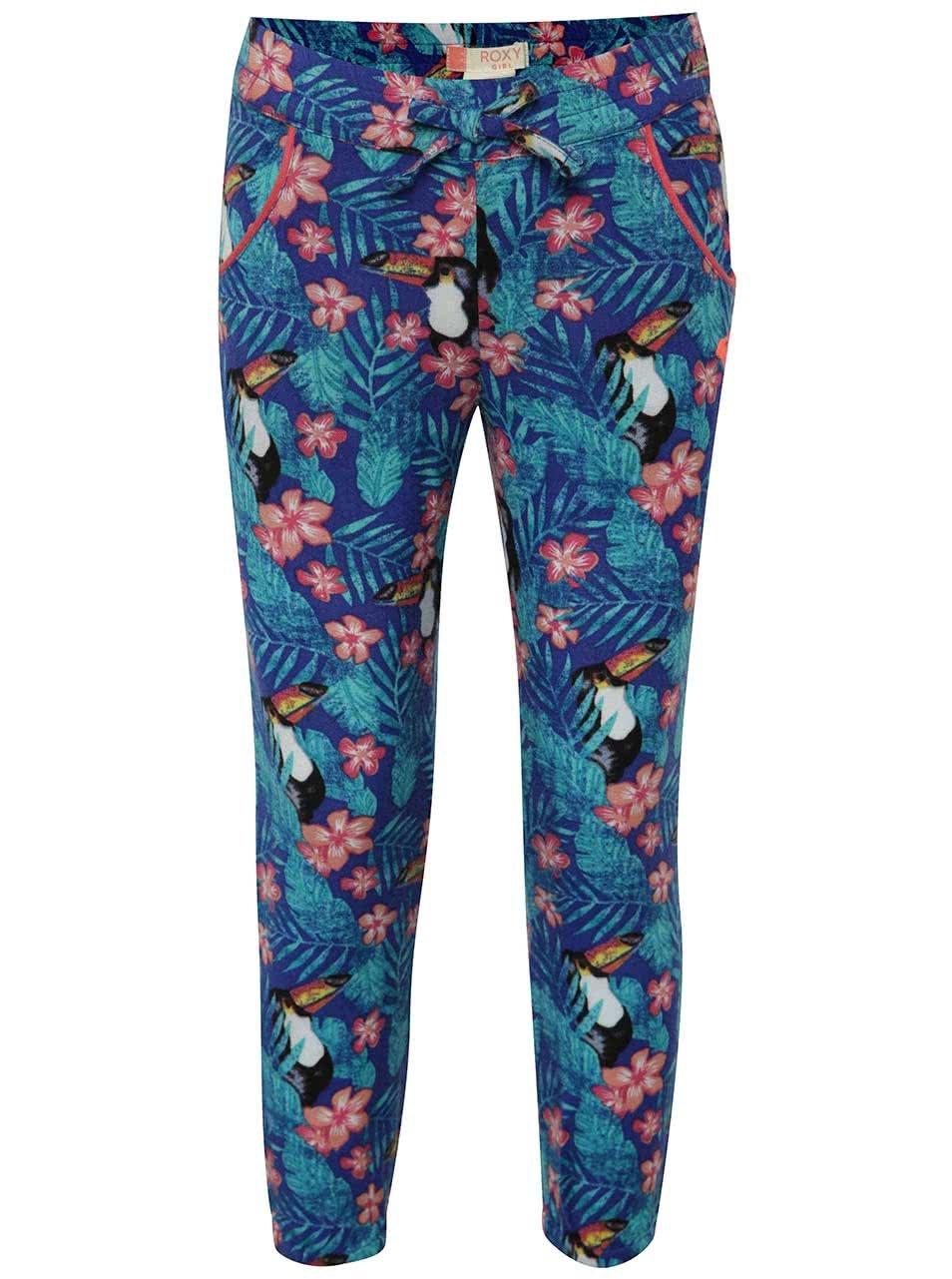 Modré holčičí vzorované kalhoty Roxy
