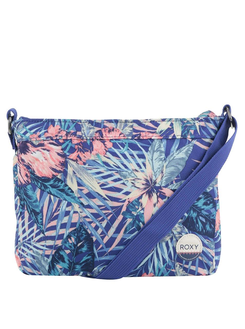 Modrá crossbody kabelka s tropickým vzorem Roxy Sunday